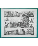 ROMAN MILITARY Engines Catapult Rams Sling Scorpion - 1844 Superb Print - $9.00