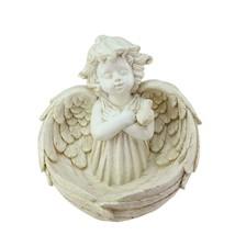 Northlight 9.5IN Heavenly Gardens Ivory Angel Bird Feeder Garden Statue - $27.22