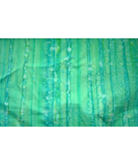 Sea Foam Green Water Color striped Cotton Fabric New - $9.99