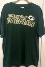 Green Bay Packers Team Apparel TX3 Cool Green Short Sleeve Tee Shirt Size L - $22.77