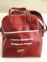 VTG 70s Enjoy Coca-Cola Work Bag Faux Leather - $8.42