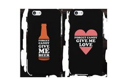 Forget Candy Give Me Beer and Love Couple Phone Cases Halloween Gifts - $19.99