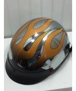 Gr8Lids Gr8 Lids Motorcycle Helmet 24281 Silver Flames - $59.39