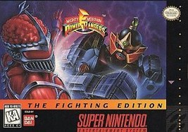 Mighty Morphin Power Rangers -- The Fighting Edition (Super Nintendo SNE... - $32.25