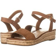 Nine West Allium Round Toe Espadrille Sandals 870, Dark Natural/Dark Nat... - $26.86