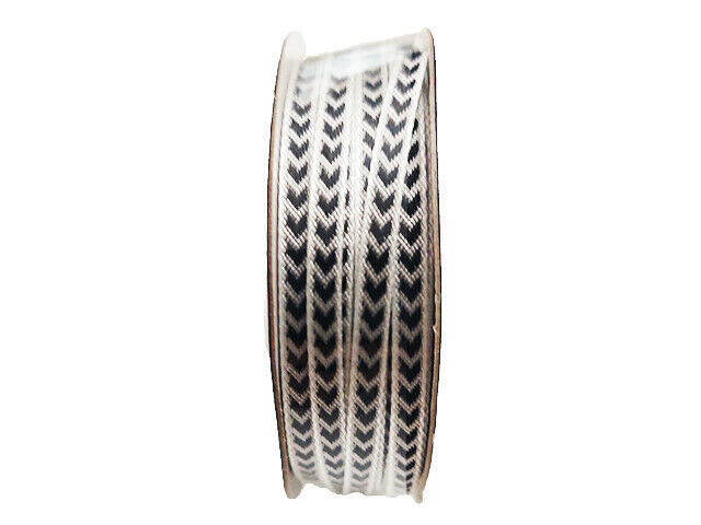 "Hobby Lobby Ribbon Boutique White/Black Ribbon, 1/8"" x 5 Yards"