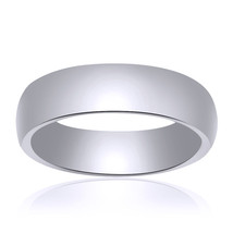 5.0mm 14K White Gold Comfort Fit Band - $256.41