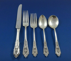 Rose Point by Wallace Sterling Silver Flatware Set For 8 Service 45 Pieces - $2,500.00