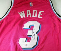 DWAYNE WADE / 13 X NBA ALL-STAR / AUTOGRAPHED MIAMI HEAT PRO STYLE JERSEY / COA image 3