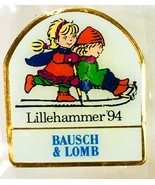 Bausch & Lomb Lillehammer '94 OLYMPIC GAMES MASCOTS KRISTIN & HACON PIN ... - $14.95