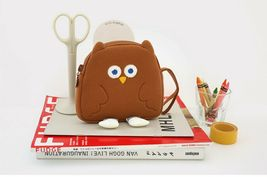 Brunch Brother Flying Owl Pouch Cosmetic Bag Case Organizer (Brown) image 4