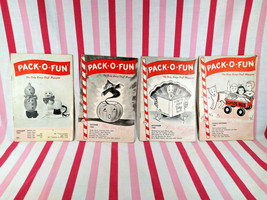 FaB Vintage Pack O Fun 4pc Scrap Craft Magazines 1960 & 1961 Fun Retro G... - $10.00