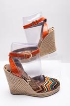 Missoni Women Espadrille Wedge Sandals Sz 36 37 Jute Chevron Zig Zag Ank... - $58.41