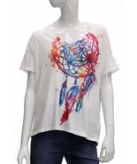 Denim Supply Ralph Lauren Graphic Boyfriend Short Sleeve White/Multi Siz... - $22.27