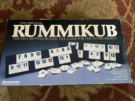 Vintage 1990 Pressman RUMMIKUB Rummy Tile Game - $13.50