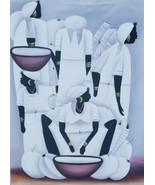 Signed Joseph - Native Women Naif Folk Haitian Art Haiti W.I Canvas Pai... - $979.99