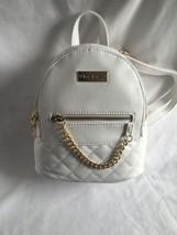 Bebe Mini Quilted Backpack Gina-White *NWT* - $58.89