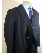 JOS A BANK SIGNATURE COLLECTION MEN'S SPORTS COAT DOUBLE-BREASTED 55L BLACK - $34.29
