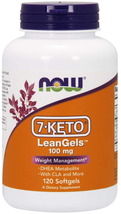 NOW Supplements, 7-Keto LeanGels 100 mg with CLA, Green Tea Extract, 120 Softgel - $49.77