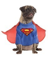 Rubies Superman Clark Kent DC Comics Halloween Costume Pet Dog 887892 - $17.47 CAD+