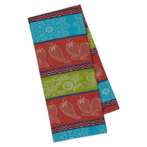 "Chili Pepper Jacquard Dish Towel New DII 18""x28"" 100% Cotton Southwestern  - $13.85"