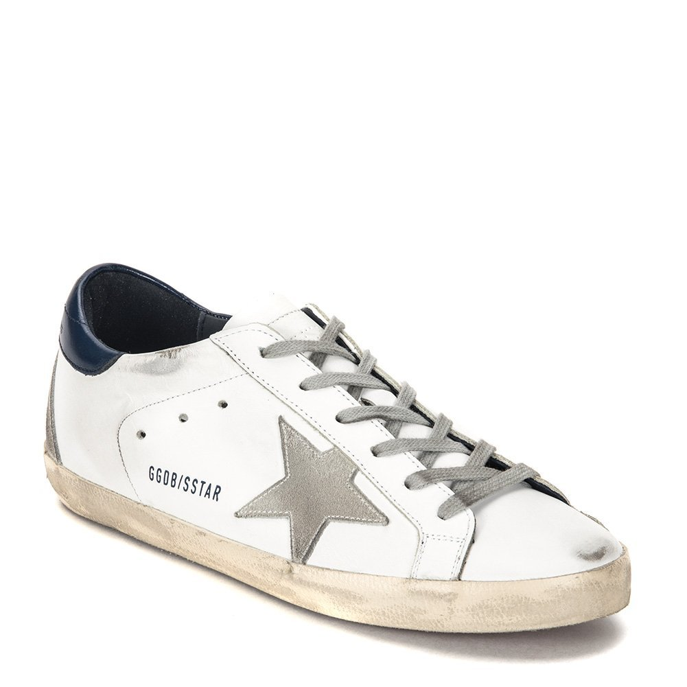 Golden Goose Women's Superstar Sneaker GCOWS590.A7-17PF White/Blue (EU 40 / US 9