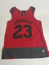 Nike Air Jordan Spellout Youth Medium Basketball Tank Top Red Black MJ 23 - $39.10