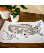 Scratch Your Travels Romantic Florals USA Map - $24.99+