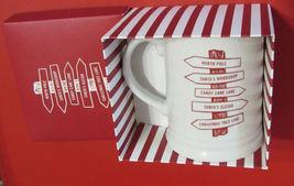 FRINGE STUDIO HOLIDAY SIGN 481270 COFFEE MUG PORCELAIN WHITE/RED 12 OZ. NEW - $14.75