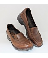 Clarks Size 6.5 M Artisan Brown Leather Loafers Confort Shoes Women's #8... - $23.74