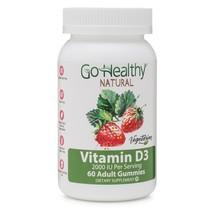 Go Healthy Natural Vitamin D3 Gummies, Vegetarian - 2000 IU (60) -30 Se... - $14.99