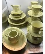 Noritake china set - Yellow Flower Pattern - 6 settings, 37 pieces Mint ... - $189.05