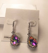 Charter Club Silver Crystal Drop Dangle Hypo Allergenic Earrings - New - $19.80