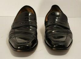 Johnston & Murphy Mens Black Leather Loafers Size 8.5 Med - $34.60