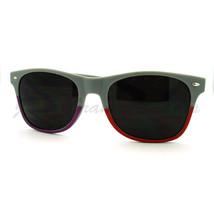 Matte Gray Sunglasses Spring Hinge Super Dark Lens Horn Rim Fashion - $7.95