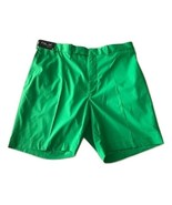 NWT RLX Golf Ralph Lauren shorts 40 flat front poly green $165 fast-dry - $71.77