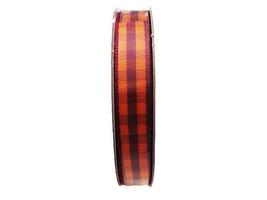 "Hobby Lobby Fall Crafts Gingham Taffa Plaid Ribbon, 3/8"" x 10 Yards"