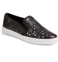 Michael Kors MK Women's Premium Designer Keaton Slip On Leather Sneakers Shoes image 2