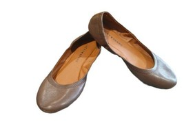 Lucky Brand Leather Chocolate Brown EMMIE Ballet Slip On Flats Size 8.5 - $20.90