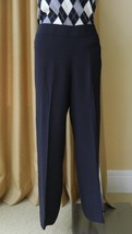 Giorgio Armani Black Silk Pants Dress Slacks Full Leg Wide Waistband 40 - $88.11