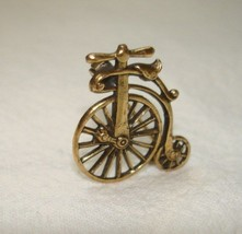 """Vintage Small Gold Plated UNICYCLE Pin Brooch 1"""" Very Detailed Mint Cond... - $39.59"""