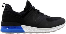 New Balance 574 Black/White-Blue MS574SCS Men's SZ 7 - $50.22