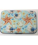 RFID armor wallet credit card protection case nautical (lt blue shell) - $6.99