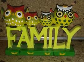 Owl Family of 4 Figurine Word - $29.69