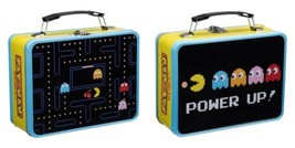 Pac-Man Video Arcade Game Large Carry All 2 Sided Tin Tote Lunchbox NEW ... - $16.44