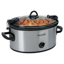 Crock-Pot 6-Quart Cook & Carry Oval Manual Portable Slow Cooker, Stainle... - $764,92 MXN