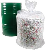"""100 Pack Low Density Clear Drum Liners 37"""" x 40"""" 55 Gal - $364.47"""
