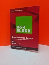 H&R Block Small Business Owner Premium Tax Software 2019, Sealed, Fed  S... - $16.55