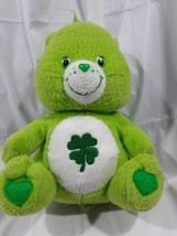 "Carebear Shamrock Bear Good Luck Bear 2004 Plush Green 8""  - $13.96"