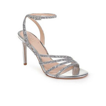 Jewel Badgley Mischka Womens Silver Glitter Heels Sandal Cocktail Party ... - $69.29